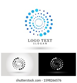 Modern Circle Dotted Logo. Symbol & Icon Vector Template.