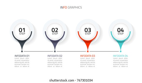 Modern circle infographic.Business concept with 4 options, parts, steps or processes.