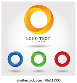 Modern Circle Logo. Symbol & Icon Vector Template.