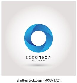 Modern Circle & O Logo. Symbol & Icon Vector Template.