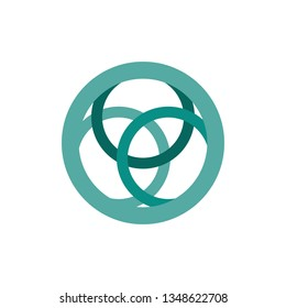 modern circle with three small circle logo design inspiration