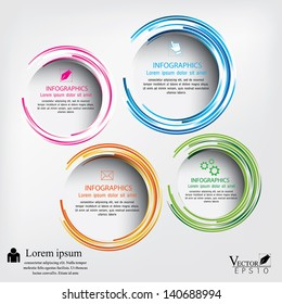 Modern circle Vector illustration. can be used for workflow layout, diagram, number options, web design, infographics, business brochure.