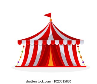 Modern Circus Tent Cartoon Illustration