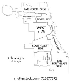 Chicago Area Map Stock Vectors, Images & Vector Art | Shutterstock on