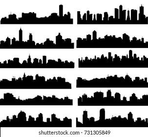 Modern City Skyline Set -Vector