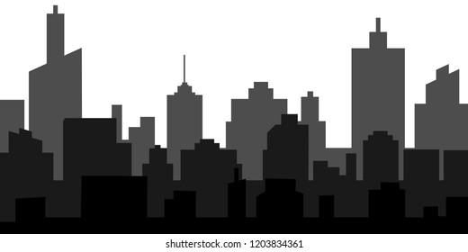 Modern City Skyline Vector