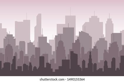 modern city skyline. vector eps10