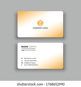 Modern  and Clean Business Card Template. vector.