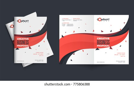 Modern clean cover for business proposal, annual report, brochure, flyer, leaflet, corporate presentation