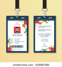 Modern Clean Graphic ID Card Design Template