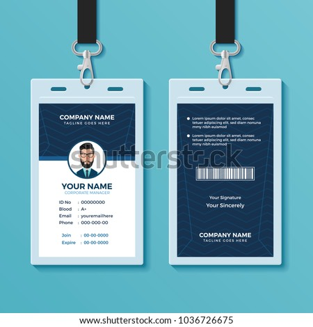 modern clean id card design template のベクター画像素材