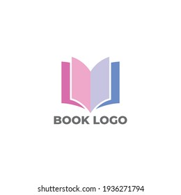 modern and clean logo design for book