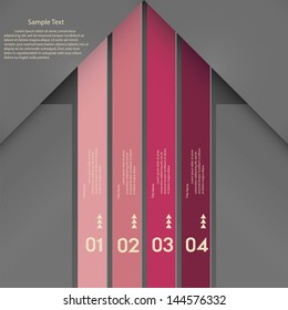 Modern clean template / can be used for infographics / numbered banners