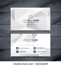 modern clean white and gray business card design template