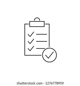 Modern clipboard line icon. Premium pictogram isolated on a white background. Vector illustration. Stroke high quality symbol. Clipboard icon in modern line style