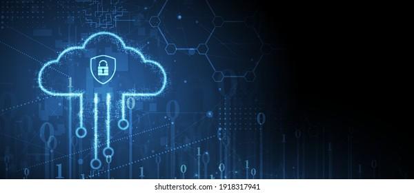 moderne Cloud-Technologie. Integrierter digitaler Web-Konzept-Hintergrund