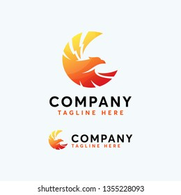 Modern Color Birds Logo Design Template