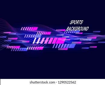 Modern color poster for sports.Fashionable abstract background. The composition of geometric shapes. Vector illustration.