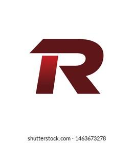 modern color r logo design