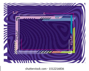 Modern color universal background - frame. For covers, business cards, banners, prints on clothes, wall decor, posters, canvases, websites, posts in social networks, videos. Vector background