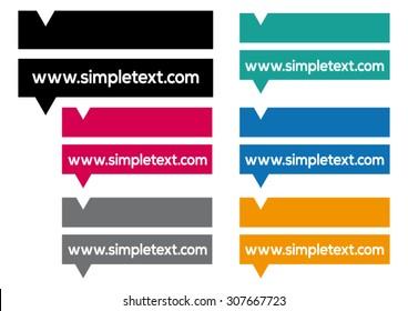 Modern Color Web Link Buttons