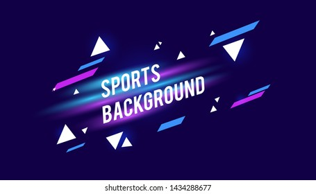 Modern colored poster for sports with elegant background. Vector illustration