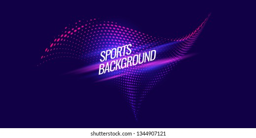 Modern colored poster for sports. Vector illustration