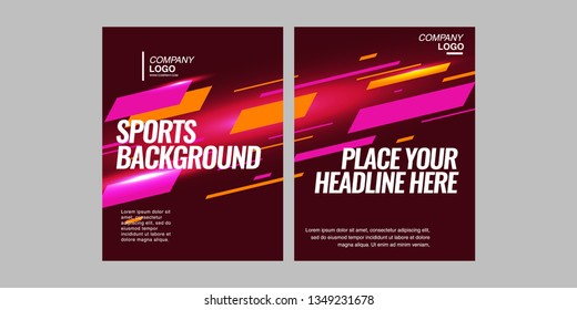 Modern colored poster for sports.  Vector illustration Text sports background for website and apps. element for web, design cover, flyers, brochures and landing page