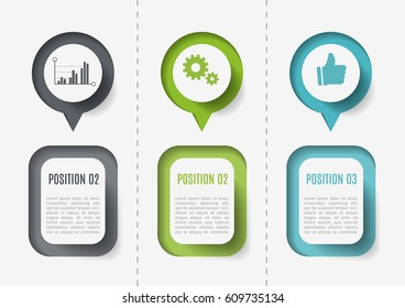 Modern colorful 3d chart, graph. Template for diagram, presentation and chart. Infographics elements. Vector illustration