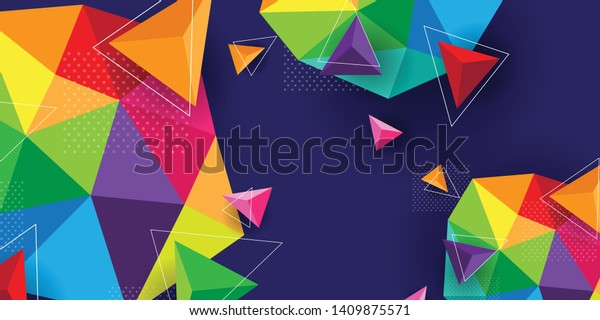 modern and colorful abstract office wall paper