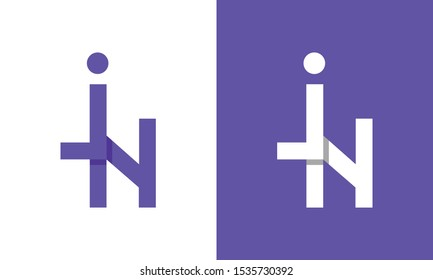 Modern colorful abstract letter JN logo. This logo icon incorporate with two abstract shape in the creative process.