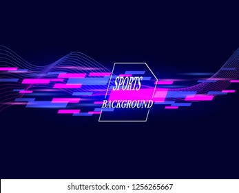 Modern colorful abstract poster for the sport. Vector illustration