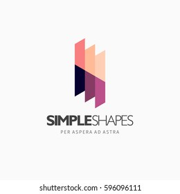 Modern colorful abstract vector logo or element design. Best for identity and logotypes. Simple shape.