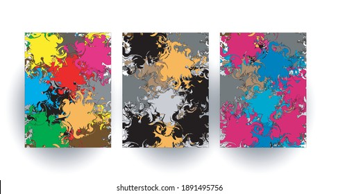 Modern colorful background design vector template