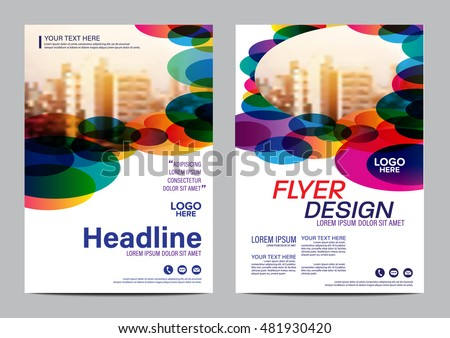 modern colorful brochure layout design template annual report flyer leaflet cover presentation modern background - Colorful Brochure Templates