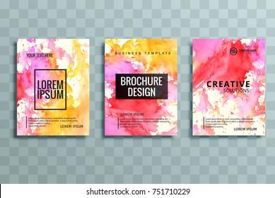 Modern colorful business brochure set  vector design