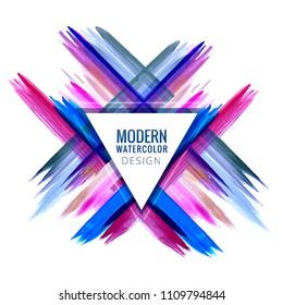 Modern colorful elegant stroke watercolor vector design