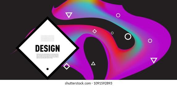 Modern colorful flow poster. Wave Liquid shape in colorful background. Art design for your design project. Vector illustration EPS10