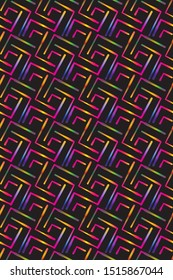 modern colorful geometric seamless pattern tile with organic shapes and neon bright colors. for festive surface designs, templates, posters, banners, fabric and textile. seamless design