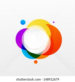 Modern colorful geometrical circles design