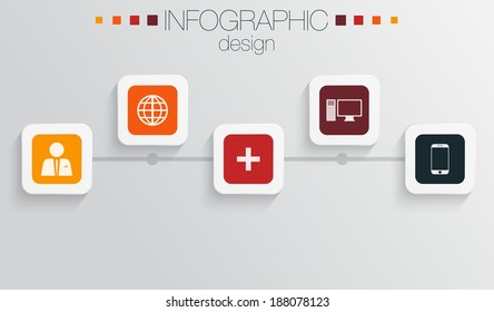 Modern colorful infographic design
