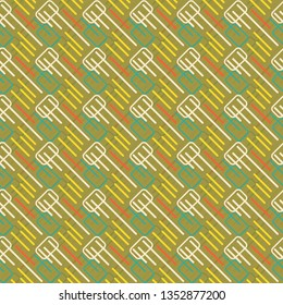Modern colorful layered geometrical seamless pattern tile with rectangles and diagonal lines in a cool futuristic design for surface design templates, textile, fabric, wallpaper, backdrop, backgrounds
