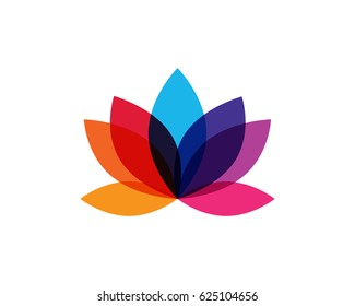 Modern Colorful Lotus Flower Logo