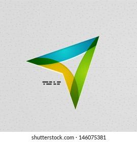 Modern colorful paper arrow vector design
