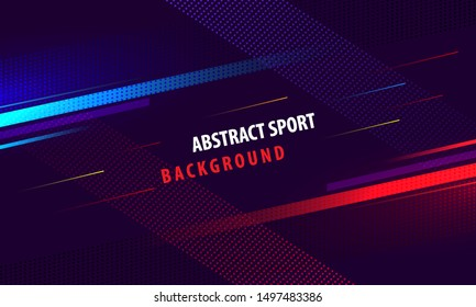 Modern colorful poster for sports with gradient background. Vector illustration
