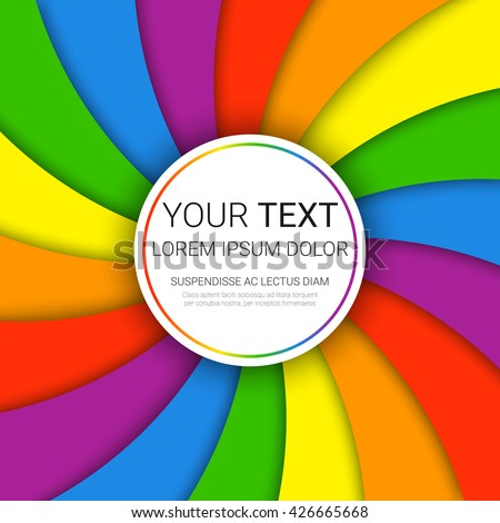 modern colorful rainbow background vector illustration のベクター
