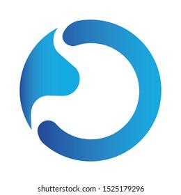 Modern colorful stomach logo emblem