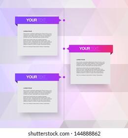 Modern colorful timeline design template Eps 10 vector illustration