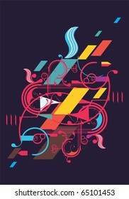 modern colorful vector abstract
