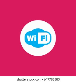 Modern, colorful wifi icon.